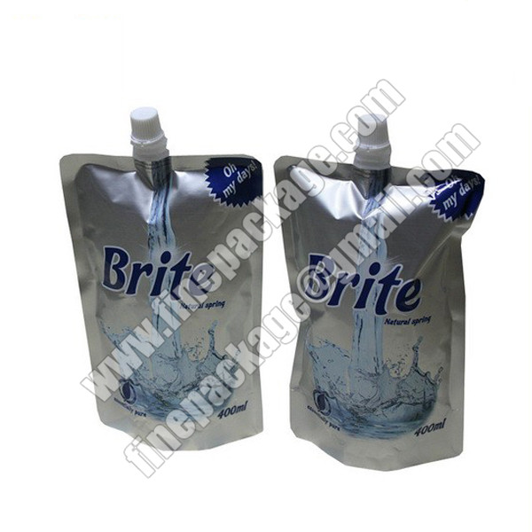 aluminium foiled stand up spout pouch, wine bag with spout, fruit juice drink pouches manufacturers