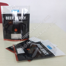 Original Printed ziplock beef jerky and biltong bags with Euro slot and tear notch