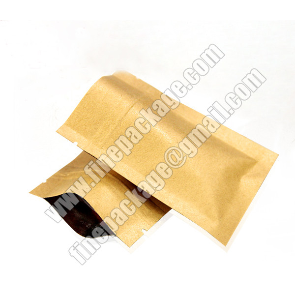 kraft paper mylar bags with ziplock, kraft paper ziplock bags for food, resealable zipper kraft paper food packaging bags2