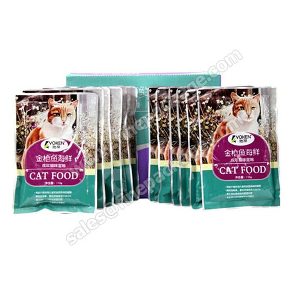 printed pet food bag-,cat food bag- stand up ziplock pouch