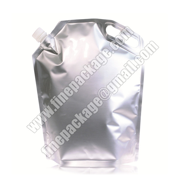 aluminium foiled stand up spout pouch, wine bag with spout, fruit juice drink pouches manufacturers2