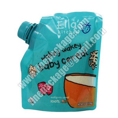 baby food spout pouch, flexible spout bag for liquid food, juice drink pouch with spout