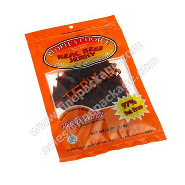 vacuum printed beef jerky and biltong tear notch
