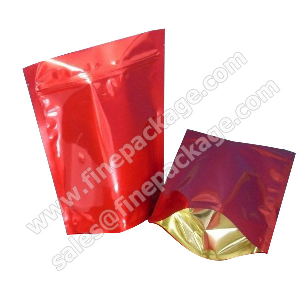 Customized stand up ziplock plastic coffee bean packaging bag/food packaging aluminum plastic bags /coffee bag