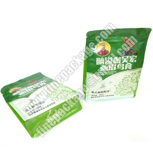 8 side seal block bottom plastic pet treats packaging pouch