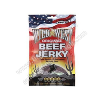 Teriyaki Printed beef jerky and biltong stand up bags with zipper with Euro slot and tear notch
