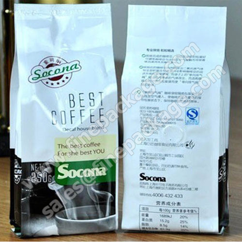 aluminium foil bag coffee bag with valve 16