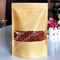 dried fruit & nut craft paper packgiang bags, ziplock stand up bags with window