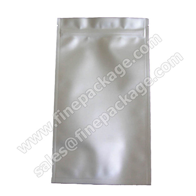 Hot sales ziplock silver High Barrier vacuum aluminium foil bags
