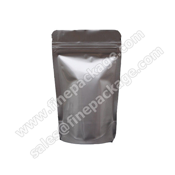 clear stand up zipper aluminium foil bag
