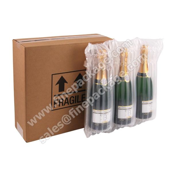 air bag-750mil wine 3 bottle air protection bag-12