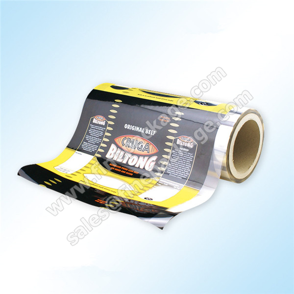 high barrier beef jerky and biltong packaging rollstock film