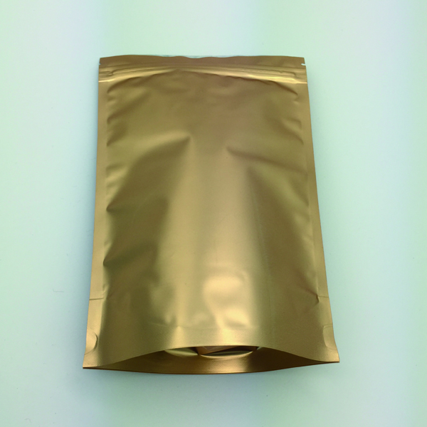 customed designed Golden printed aluminium foil zipper packaging bags