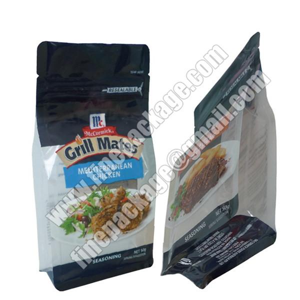 square bottom plastic 8 side seal bag,plastic bags with block bottom, block bottom side gusset bag