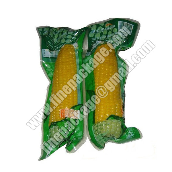 frozen foods vacuum packaging bags,plastic vacuum bag for hot dog, corn vacuum packing bag2