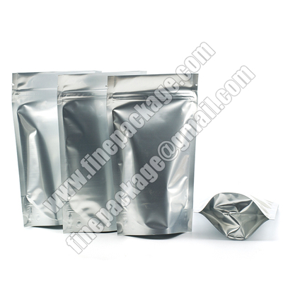 aluminum foil stand up pouch for food,stand up pouch with zipper, stand up food pouch