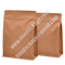 food grade block bottom kraft paper pouch, square bottom paper bag