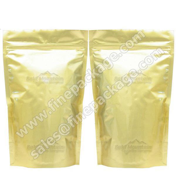 GOLDEN ZIPLOCK STAND UP ALUMINIUM FOIL BAG