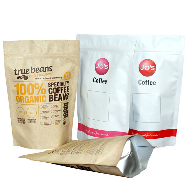 coffee and tea packaging with zipper