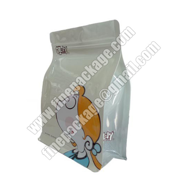 aluminium foiled block bottom pouch, foiled square bottom bags for food, side gusset block bottom food packaging pouch1